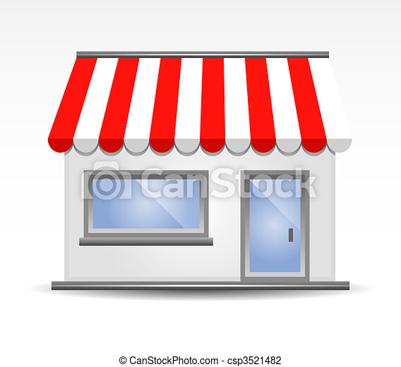 vector illustration of storefront a - csp3521482