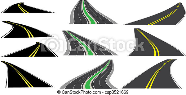 Vector perspective roads - csp3521669