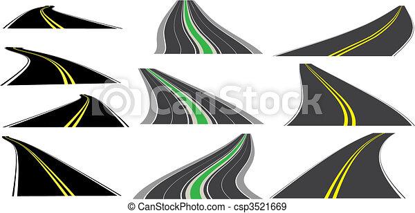 Vector perspective roads - csp3521669