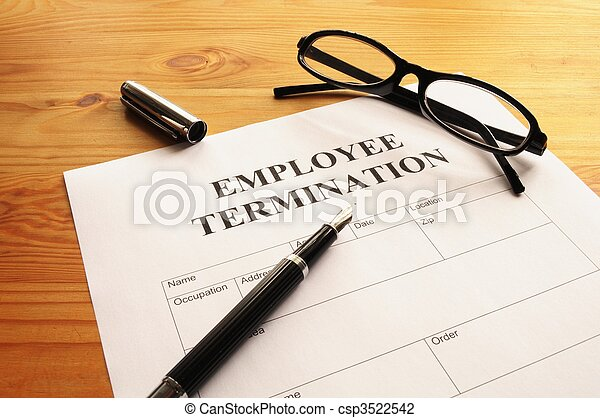 employee termination - csp3522542