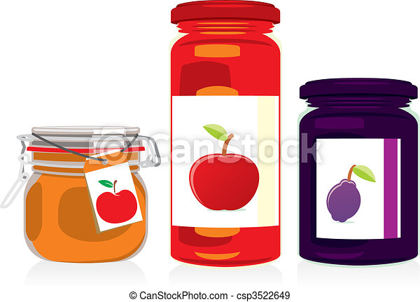 isolated jam jars set  - csp3522649