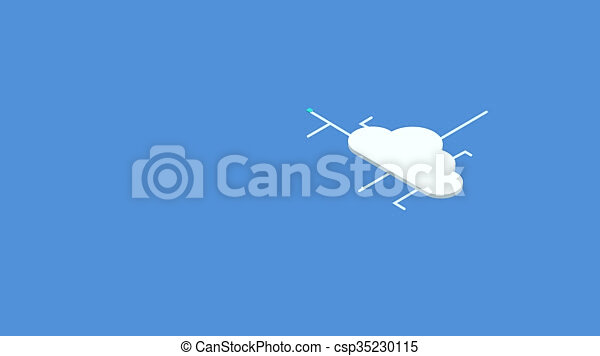 Stock Footage of modern concept isometric computer cloud ...