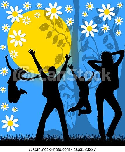 Spring-Summer Party Placard - csp3523227