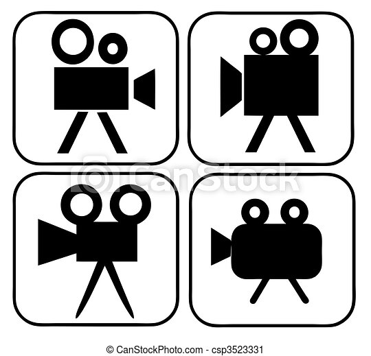 Movie Camera Signs - csp3523331