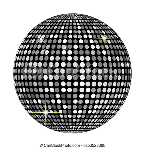 Clip Art Disco Ball Clip Art disco ball stock illustration images 6373 illustrationby