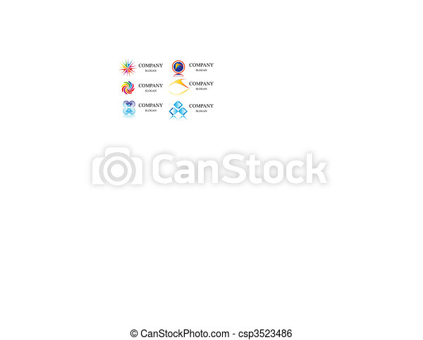 business identity  logo template vector - csp3523486