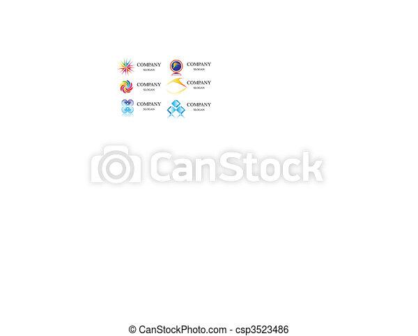 business identity  logo template vector - csp3523486