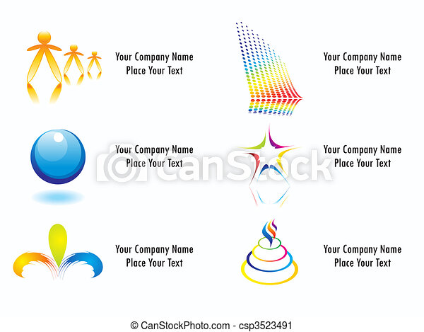 business identity  logo template vector - csp3523491