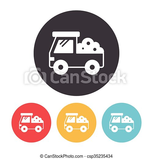 cargo truck icon - csp35235434