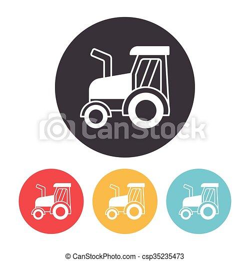 cargo truck icon - csp35235473