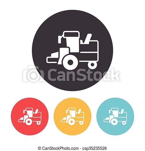 cargo truck icon - csp35235526