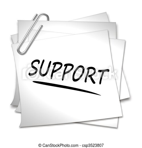 Memo with Paper Clip - Support - csp3523807