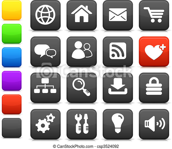 internet design icon set - csp3524092