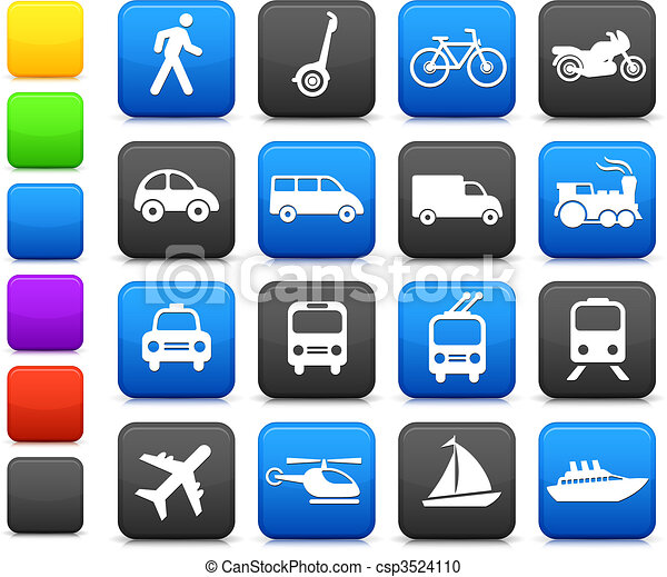 Transportation icons design elements - csp3524110