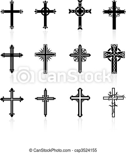 religious cross design collection - csp3524155