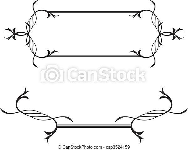 vecteurs eps de asbtract blanc noir encadrement asbtract noir et csp3524159. Black Bedroom Furniture Sets. Home Design Ideas
