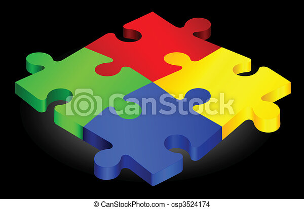 Complete Puzzle on simple Background - csp3524174