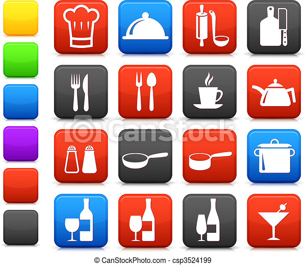 cooking items internet icon collection - csp3524199