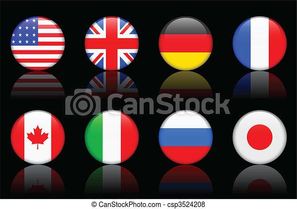 World flag series  World flag series G8 countries - csp3524208