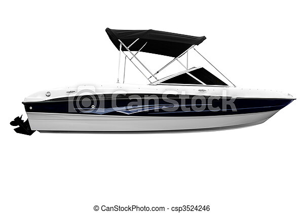 boat isolated - csp3524246