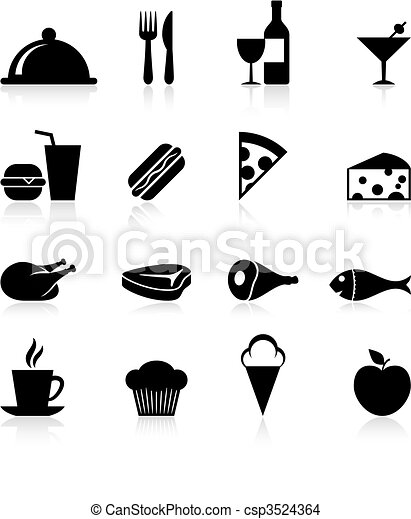 gourmet food icon set - csp3524364