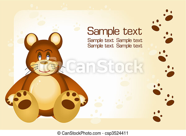 bear toy and frame - csp3524411