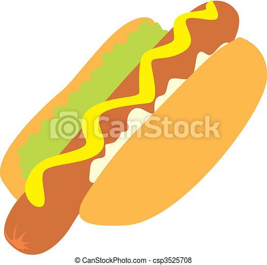 isolated hot-dog  - csp3525708