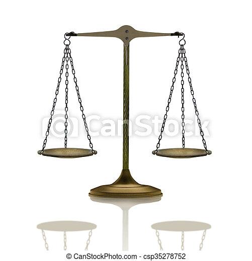 balance mirrored on white - csp35278752