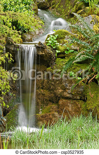 Garden Waterfall - csp3527935