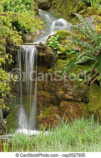 Garden Waterfall - csp3527935