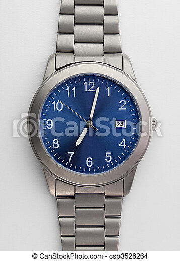Titanium watch isolated on white - csp3528264