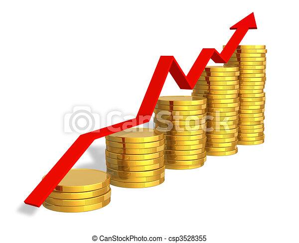Financial success concept - csp3528355
