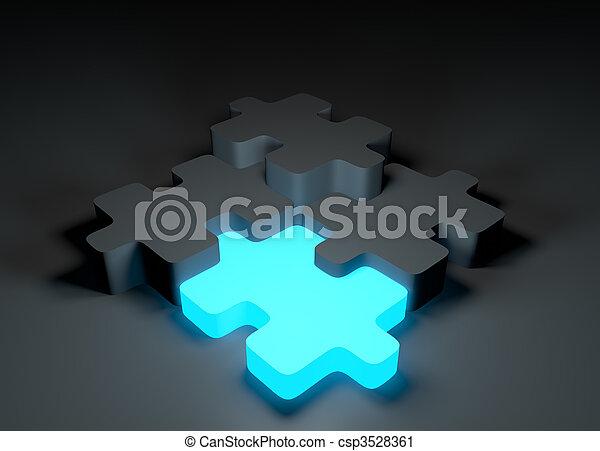 地位, パズル小片, から - csp3528361