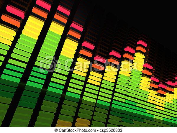 utjämnare, musik - csp3528383