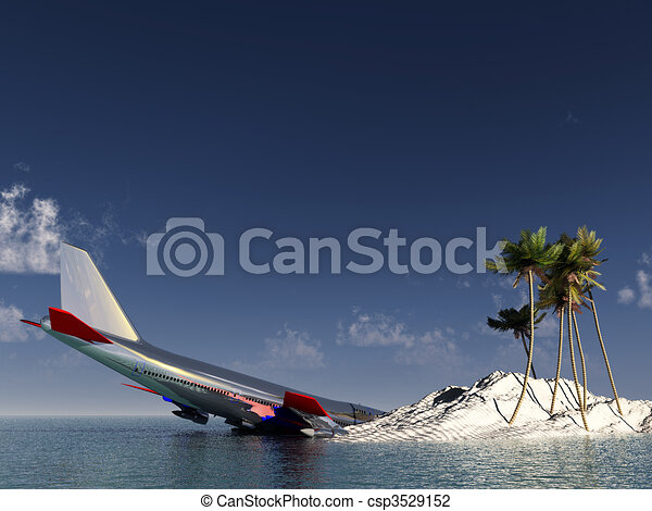 Clip Art Of Crashed Plane A Plane That Has Crashed Near