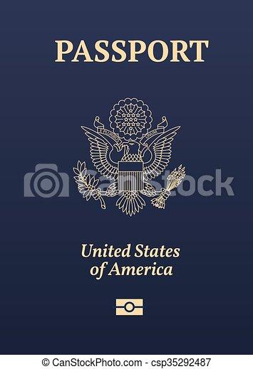 US passport seal - csp35292487