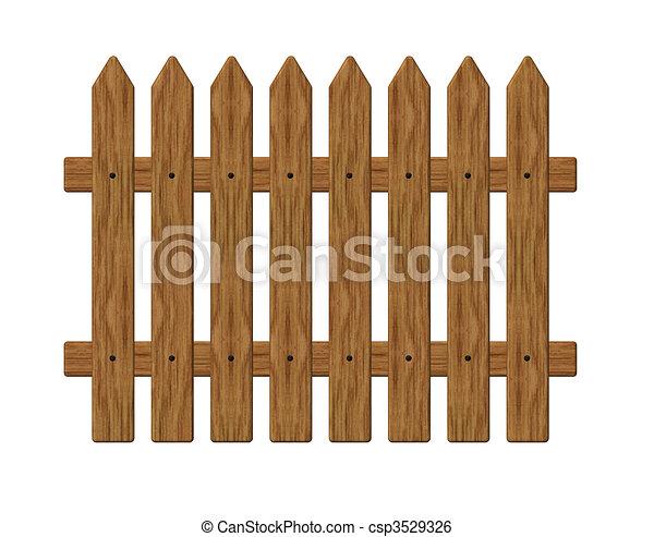 Banco de ilustra o de cerca madeira jardim barreira for Cerco illustratore