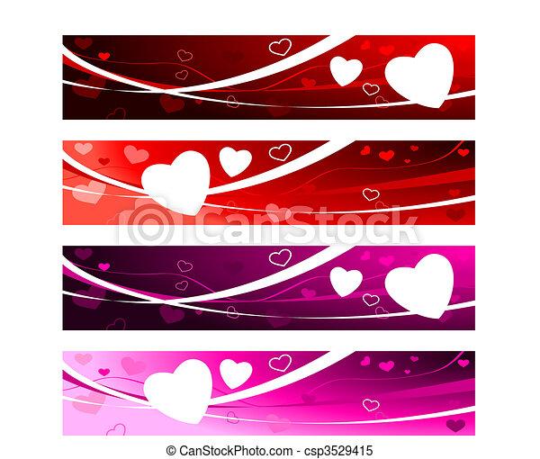 Valentine\'s day Love Banners - csp3529415