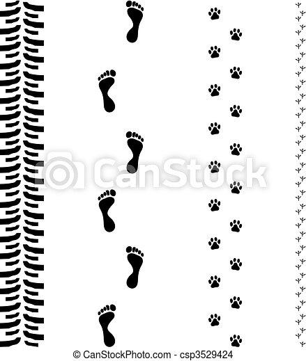 Track Print Footsteps - csp3529424
