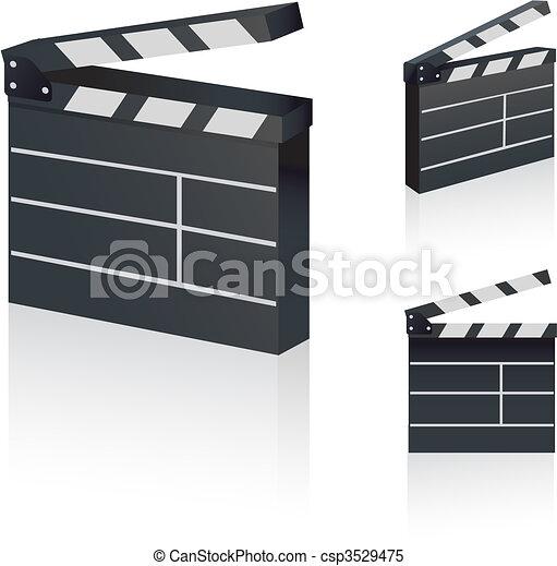 Film Clapper - csp3529475