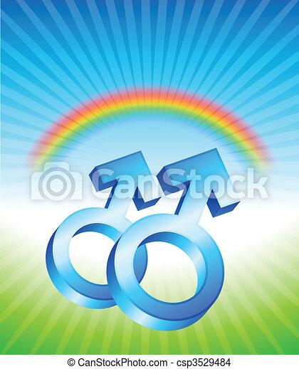 Gay Relationship Gender Symbols - csp3529484