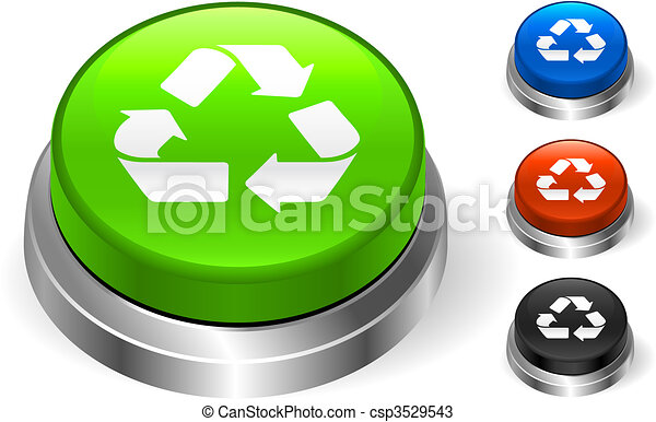 Recycle Symbol On internet Icon - csp3529543