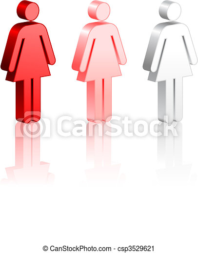 Female Stick Figures - csp3529621