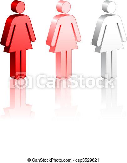 Female Stick Figures - csp3529621