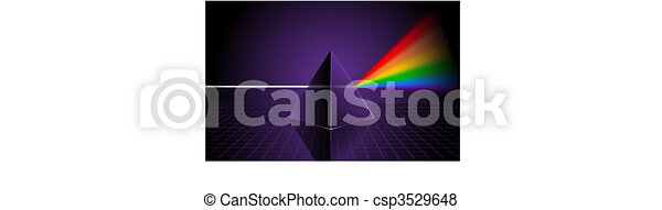Pyramid with Rainbow - csp3529648