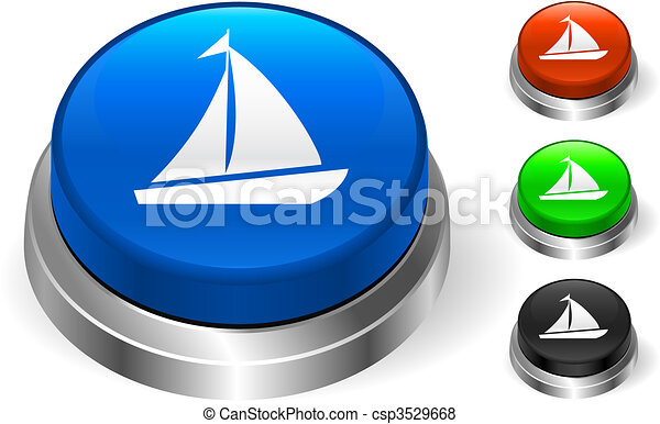 Sail Icon on Internet Button - csp3529668
