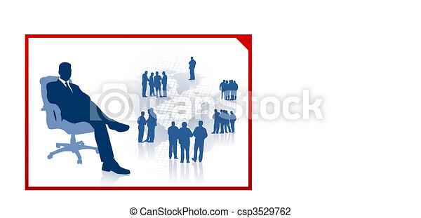 Executive Businessman in Chair - csp3529762