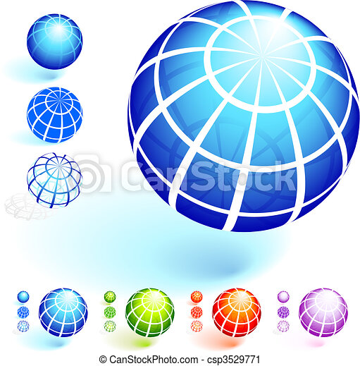 Wire Frame Globe Collection - csp3529771