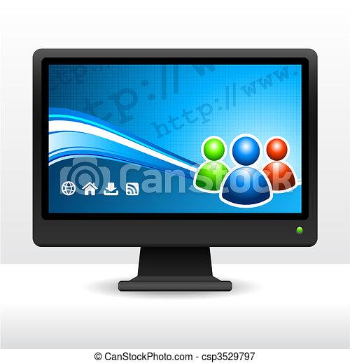 Computer Desktop Monitor - csp3529797