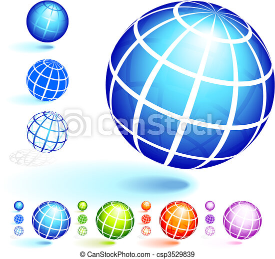 Wire Frame Globe Collection - csp3529839